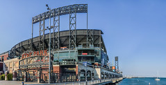 giant's vs. the mets at at&t park (pbo31) Tags: bayarea california nikon d810 color september 2018 summer boury pbo31 sanfrancisco city urban panoramic large stitched panorama southbeach attpark giants blue sail boat bay neon baseball sport stadium mlb