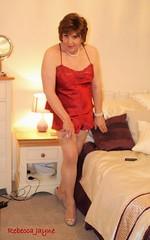 A bit of a predicament! (rebeccajaynegrey) Tags: crossdresser transvestite transgender crossdress cd tgirl tg crossdressing