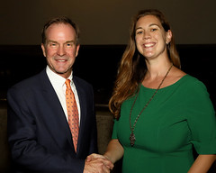 Michigan Attorney General Bill Schuette and Board President Alicia Chandler