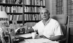 Allan Kornberg, 1990 (Duke University Archives) Tags: dukeuniversity politicalscience faculty professor desk office seated durham nc