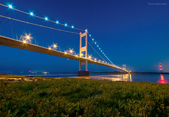 Severn Crossing (technodean2000) Tags: severn crossing chepstow bristol channel nikon d610 lightroom 1835mm lens night bridge reflection first outdoor people photo d810 ©technodean2000 wales welsh uk south photographer technodean2000 lr ps photoshop nik collection flickr