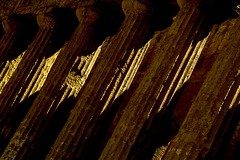 light on the columns (photoautomotive) Tags: sicily italy europe agrigento valleyofthetemples temple columns light pattern greekcolumns templeofconcordia outside outdoor old ancient greek shadows canon 7d canon35350l