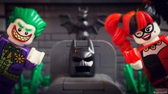 Goodbye Batman, hello Gotham (black.zack00) Tags: batman dccomics joker harley quinn lego afol minifig minifigure toy toys photography funny