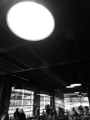 P1410254 (johncocanower) Tags: monochrome blackandwhite bnw bw indoor restaurant pub santafe newmexico window people
