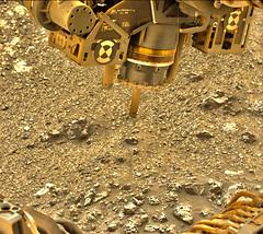 Drill Bit Looking for Potential Holes, variant (sjrankin) Tags: 2172ml0117030000803966e01dxxx edited 18september2018 nasa mars msl curiosity galecrater drill drillbit grinder equipment rocks sand closeup