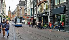 Omgeleidsestraat (Peter ( phonepics only) Eijkman) Tags: amsterdam city combino gvb tram transport trams tramtracks trolley rail rails strassenbahn streetcars nederland roadworks wegwerkzaamheden omleiding detour netherlands noordholland nederlandse holland