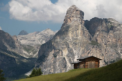 Hut with a view (strachcall) Tags: sudtirol corvara dolomites landscape sassongher mountains italy badia hut altoadige