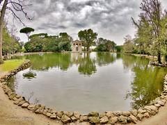 Tempio a Villa borghese (ioriogiovanni10) Tags: photographer hero6 riflessi specchio fotografia lake september cielo clouds nuvole nuvoleclouds tempio lagodivillaborghese gopro settembre
