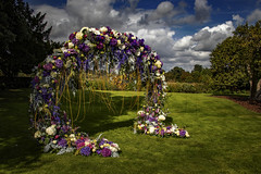 Fantastic flowers decoration .. (Julie Greg) Tags: leedscastle festival nature nautre park colours canon sky flower flowers england garden grass clouds trees tree leedscastlefestivalofflowers