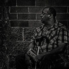 """Is It Aloneness Or Solitude That He Now Feels In The Twilight Of His Life"", Martin Luther King Jr. Avenue, Historic Anacostia, Washington, DC (Gerald L. Campbell) Tags: streetphotography street squareformat spirituality spiritualindifference socialdocumentary alienation aloneness bw blackwhite blackmale citylife community canonsx60hs dc digital freedom historicanacostia indifference injustice inequality justice love life martinlutherkingjravenue portraitphotography portrait urbanphotography urban unitedstates washingtondc yearning yeswecan"
