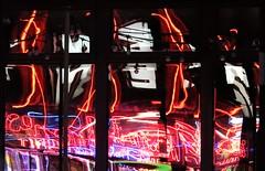 Amusement Arcade Neon - Window Reflections (Gilli8888) Tags: nikon p900 coolpix whitleybay tyneandwear spanishcity coast northtyneside night nightshots nightlights windows light reflections glass reflectionsinglass reflectionsinwindow abstract colour coastal eastcoast seaside
