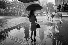 Melbourne (Bill Thoo) Tags: melbourne victoria australia street travel city urban weather rain storm wet wetweather monochrome bnw blackandwhite sony a7rii ilce7rm2 zeiss batis 18mm