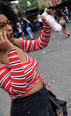 DSC_8148a Notting Hill Caribbean Carnival London Girls Aug 27 2018 Stunning Lady on her Phone (photographer695) Tags: notting hill caribbean carnival london exotic colourful costume girls aug 27 2018 stunning ladies lady her phone