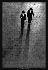 Enlightened (Ilan Shacham) Tags: street ultraorthodox light shadow pattern people men bw blackandwhite jewish fineart fineartphotography minimalism