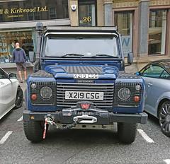 2000 ?? Range Rover  Defender (crusaderstgeorge) Tags: crusaderstgeorge classiccars cars newcastleupontyne europeancars england doonthetoon range rover defender blue rangeroverdefender