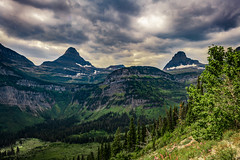 Glacier National Park, Browning, Montana (paccode) Tags: grass hills d850 colorful landscape tree nationalpark canyon bushes brush serious clouds quiet solemn montana mountain browning unitedstates us