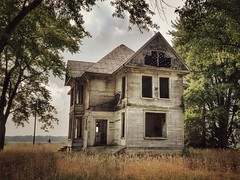 the legend of the fall... (BillsExplorations) Tags: abandoned decay abandonedhouse abandonedillinois farmcrisis bankruptcy sandwich illinois ruraldecay forgotten oncewashome legend legendofthefall