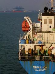 In port (Ben Zabulis) Tags: ship asia port marine maritime malaysia portkelang southeastasia triplejoy berthed berth cargoship moored stern superstructure sea nautical 5photosaday portklang fareast fareastexplorer