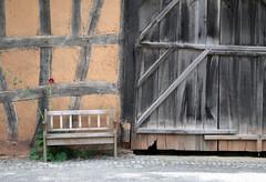 - (_barb_) Tags: germany kommern barn bench rural decay fachwerk truss