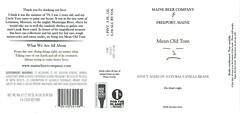 MEAN OLD TOM by Portland Design for Maine Beer Company (Label_Craft) Tags: beer beers craftbeer brew suds ale labels craft labelcraft beerlabel design illustration type fonts burp beerme brewery maine mainebeer mainebeercompany meanoldtom stout vanilla freeport