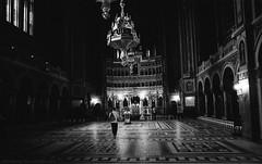 Cathedral orthodox (Drehscheibe) Tags: nikonf2 nikkor24mm blackwhite hp5 analog analogica orthodoxcathedral timisoara absoluteblackandwhite