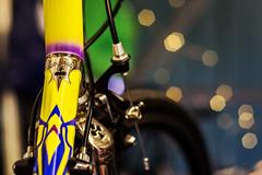 Colnago colours.. (jonbawden50) Tags: bicycle colnago master pui lugs chrome lugwork bokeh dof colours colourful cycle racing fuji cosinon 55mm f14 manual lens
