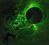 Down the Rabbit Hole (Rollingstone1) Tags: rabbit rabbithole green dark colour song atmosphere whimsical horror art artwork fractal atmospheric humerous