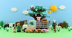 LEGO Pig collection🐷 (Alex THELEGOFAN) Tags: lego legography minifigure minifigures minifig minifigurine minifigs minifigurines pig pigs piggy hog hogs tree farm truck cow goat nature