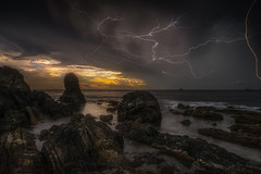 thunder (katsumasa0313) Tags: sea seaacape sony sky cloud coast thunder rock amakusa kumamoto japan wave