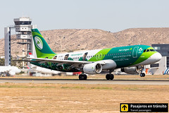 Airbus A320 Aer Lingus (#GreenSpirit Irish Rugby Team livery) Conchúr EI-DEI (Ana & Juan) Tags: airplane airplanes aircraft airport aviation aviones aviación airbus a320 aerlingus special livery takeoff departure alicante alc leal spotting spotters spotter planes canon closeup tower