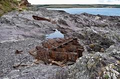 Shipwrecks (rustyruth1959) Tags: coastpath coast fields sea polzeath ships wrecks channelmarker redbuoy water camelestuary metal rocks doombar rust shipwreck daymerbay trebetherickpoint fishingcove nationaltrust trebetherick kernow cornwall england uk nikon1855mm nikond5600 nikon