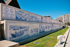 mural of azulejos in Póvoa de Varzim (Gail at Large | Image Legacy) Tags: 2018 portugal póvoadevarzim gailatlargecom
