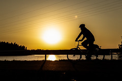 Cyclist in the evening (VisitLakeland) Tags: finland kuopio lakeland backlight bike cycling maisema outdoor pyörä pyöräilijä scenery sunset vastavalo