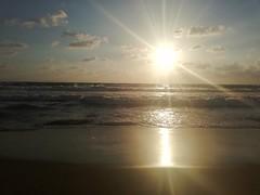 ... (essam_haffar) Tags: lebanon beirut outdoor nature horizontal horizon sea sand sun sunset sunlight water waves clouds cloudydaym reflection sky bluesky