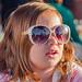 YA Big Polka Dot Sunglasses-Wearing Olivia