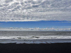 Reynisfjara Beach (RobertLx) Tags: beach black sand blacksand nature landscape island iceland clouds sky sea ocean water whie blue arctic nordic vík víkímýrdal reynisfjara white seaside coast wave bay icelandiclandscape