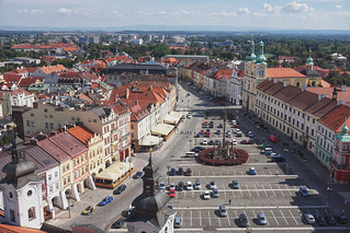 The classic view from the White Tower of Hradec Kralove