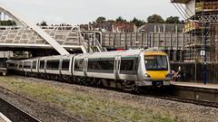 168215 (JOHN BRACE) Tags: 2000 bombardier derby built clubman class 168 dmu 168215 seen wembley stadium station chiltern railways silver livery