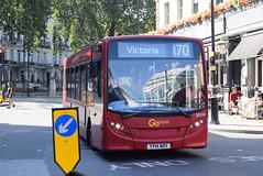 GAL SE200 @ London Victoria bus station (ianjpoole) Tags: goahead london central alexander dennis enviro 200 yy14wdv se200 working route 170 danebury avenue minstead gardens victoria bus station