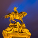 Illuminated Statue of Prince Eugene of Savoy