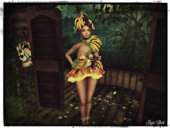 Tropicale beauty (Kryss Ghost) Tags: irrisistible dress madras mesh summer fruits