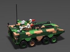 Chinese zbl-09 APC(showcase)4 (demitriusgaouette9991) Tags: lego military army ldd armored apc powerful chinese transport deadly