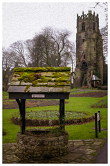 Friary Tower and Gardens, Richmond (S.R.Murphy) Tags: northyorkshire richmond sonynex6 friarytower gardens photoshop oilpaintfilter photoart digitalart sigmae30mmf28