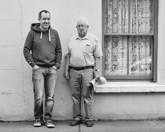 two guys in dingle (-liyen-) Tags: dingle twomen bw blackandwhite street streetphotography ireland summer smiling fujixt2