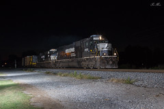 NS 127 at Rockmart (travisnewman100) Tags: norfolk southern ns manifest freight sd70 emd es40dc ge rockmart georgia division atlanta north district 127 train railroad rr