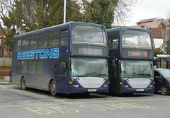 Beestons YN03DFJ & YN54OCJ 23 March 2018 (The original SimonB) Tags: transport buses ipswich suffolk march 2018