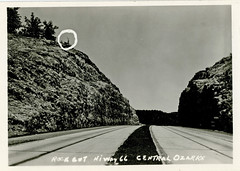 Rock Cut Hiway 66, Central Ozarks (SwellMap) Tags: postcard post card vintage old antique rppc real photo photograph
