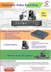 Classroom Video Recording System  - Saatvik (saatvikcommunication_av) Tags: soundproof booth classroom video recording system ca18 amplifier audio microphone auto tracking camera
