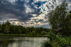 Sky over river Saale (Picturavis) Tags: saale hallesaale hdr river fluss deutschland germany sky clouds himmel wolken