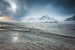 Skagsanden colours (Lukasz Lukomski) Tags: lofoten norway norge landscape sunset beach nikond7200 sigma1020 lukaszlukomski longexposure arctic island sand clouds mountains snow
